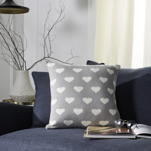 Alexis Knit 100% Cotton Throw Pillow by Harriet Bee